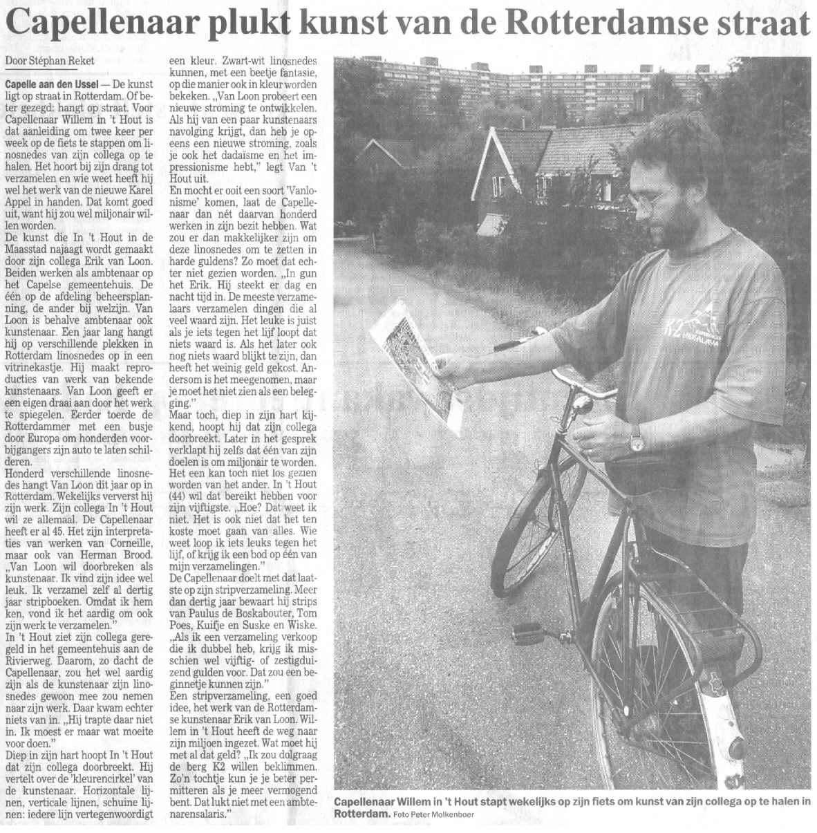 Capellenaar plukt kunst van de Rotterdamse straat