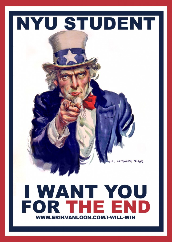 i want you NYU POSTER